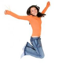 Girl Jumping for Joy : Emotional Healing : Emotional Recovery