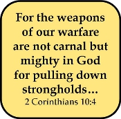 For the Weapons of Our Warfare Are Not Carnal, But Spiritual